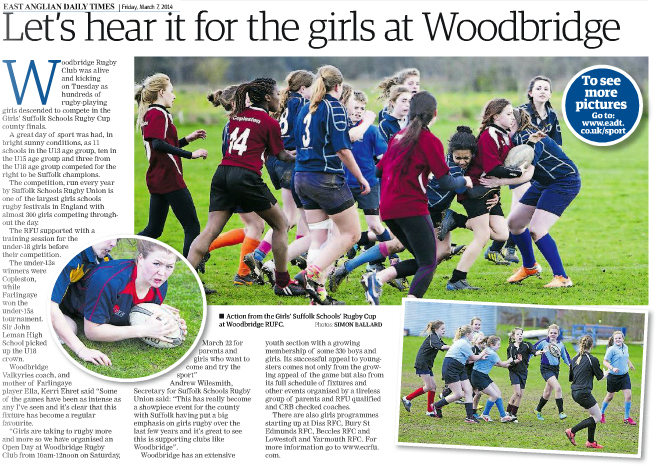 Lets hear it for the woodbridge girls EADT 7_3_14