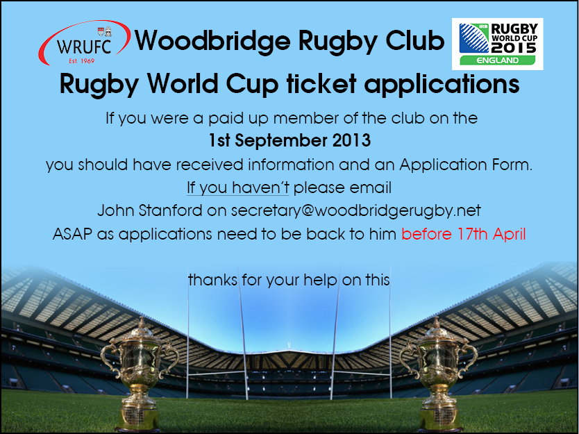 RWC 2015 Applications