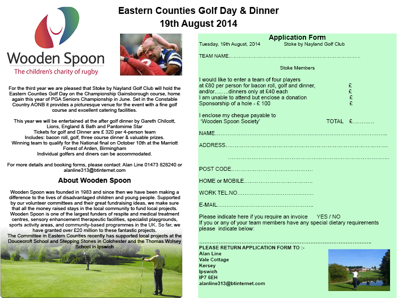 E Counties Golf Day Aug 2014 promo