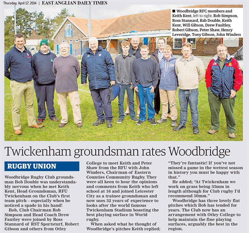 Twickenham groundsman rates Woodbridge EADT 17_4_14