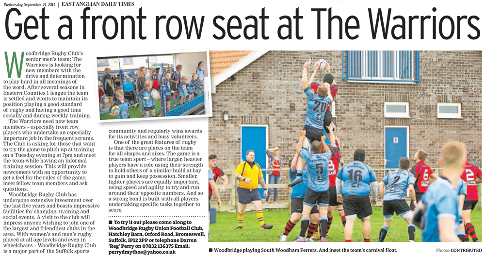 Get a front row seat at the Warriors EADT Supplement 24_9_14