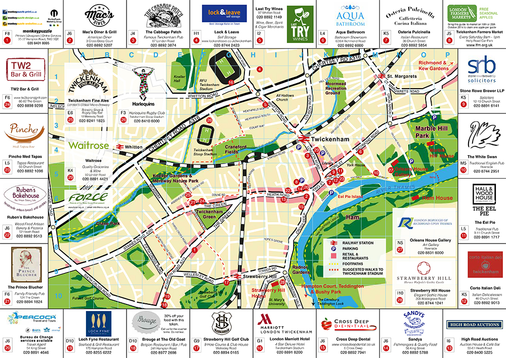 Twickenham Map Guide 2014