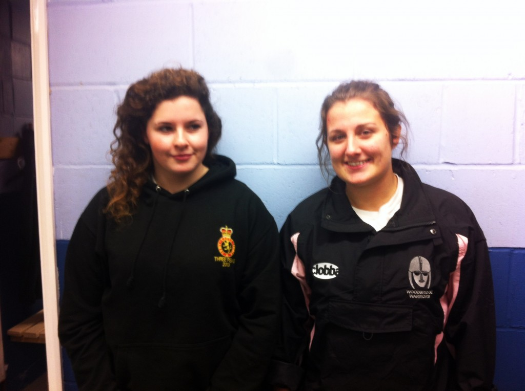 First two Valkyrie graduates to the Amazons, Jenny Frost and Jess Delaney