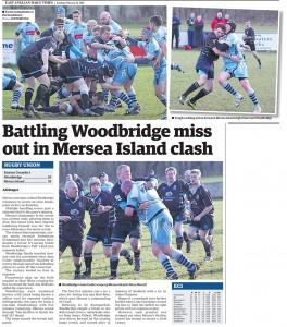 Battling Woodbridge misses out in Mersea Island clash EADT 24_2_15-2