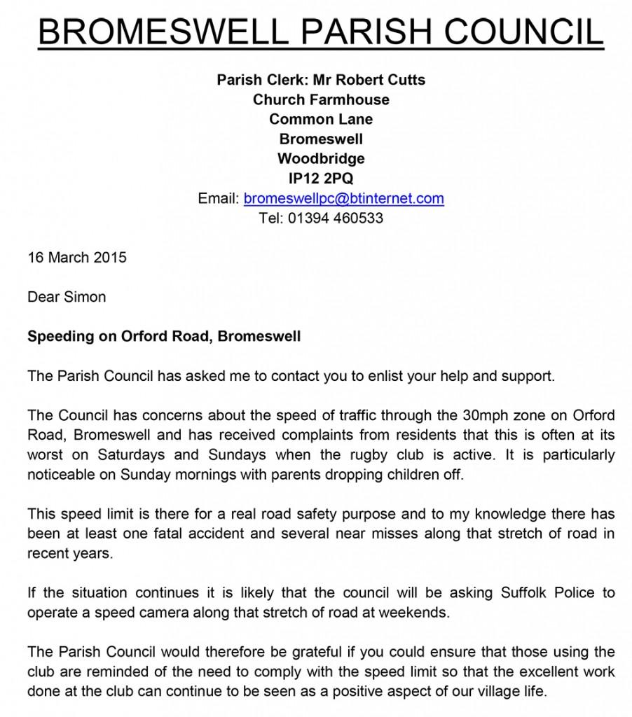 2015.03.16.Letter re speeding
